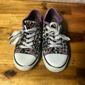 Other - Girls Cheetah Print Sneakers Size 2